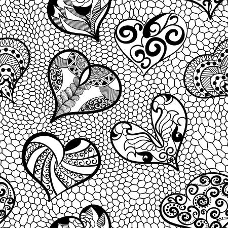민족, 낙서, 스타일에서 마음의 원활한 패턴