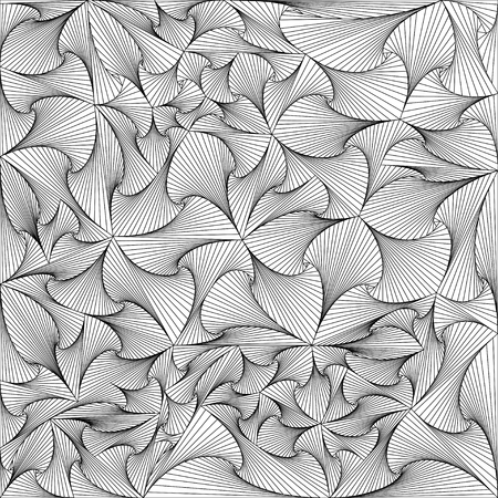 Triangles in black and white background