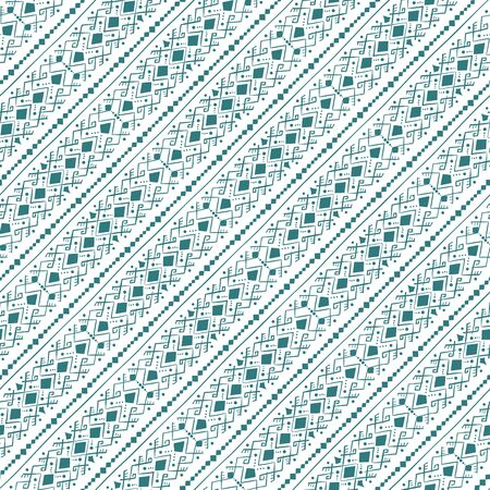 Geometric seamless pattern in style  (ethnic, doodle). Diagonal striped background