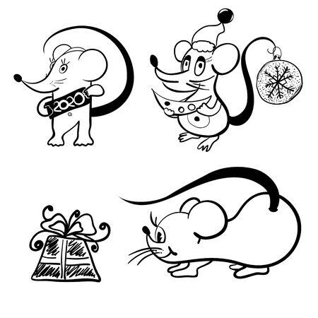 Cartoon rat. Symbol of chinese new year. Zodiac sign of the chinese horoscope