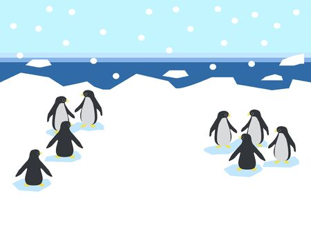 Penguins in the Ice World/Illustrations