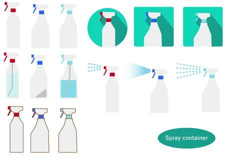Bottle Container Set Illustration