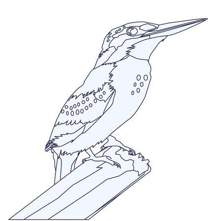 Kingfisher Line Illustration
