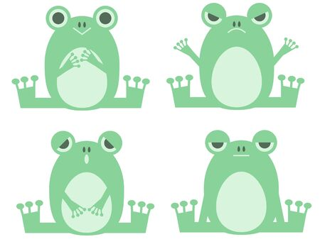 Frogs with various expressions