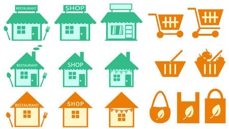 Shop Shop-related icon set