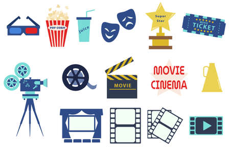 A set of movie-related icon materials