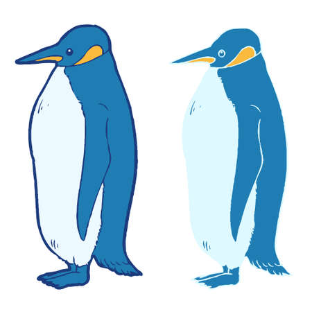 Simple penguin material illustrations  イラスト・ベクター素材