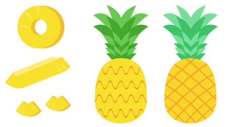 Pineapple and cut fruit