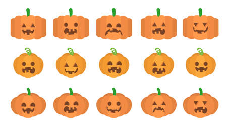 Various expressions of pumpkins for Halloween