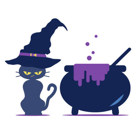The Wizard's Black Cat and the Pot