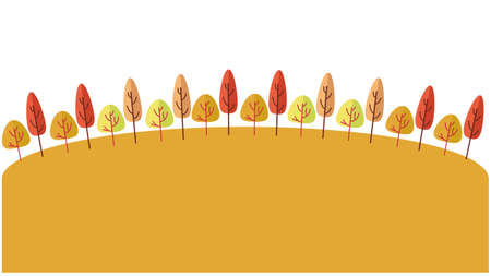 Wooden and yellow hill background material