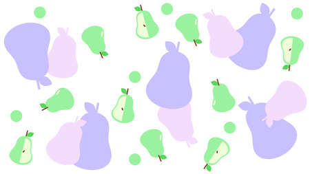 Background material with pears randomly arranged