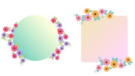 Cute flower frame illustration