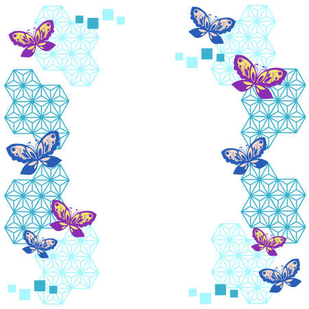 Butterfly and geometric frame 写真素材 - 160782151