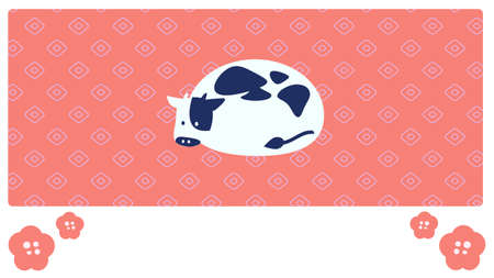 Deer child background cow illustration