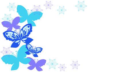 Blue Butterfly Decorative Frame Illustration