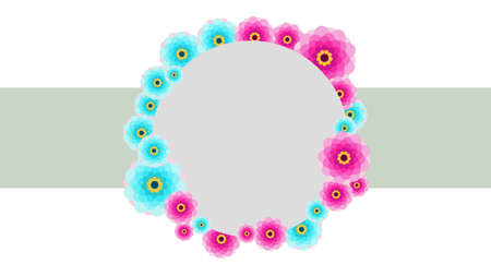Ornate Label Flower Circle Frame 写真素材 - 160794830