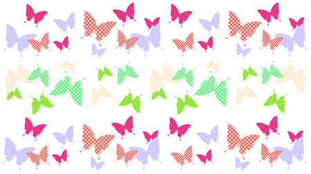 Butterfly silhouette pattern background illustration