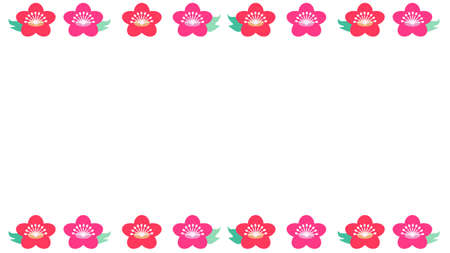 Simple frame of cute cherry blossoms  イラスト・ベクター素材
