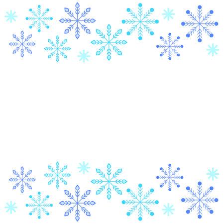 Winter Snow Crystal Frame Illustration