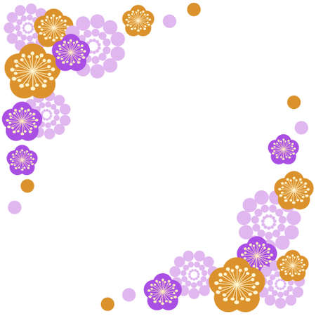 Gorgeous plum blossom background material 写真素材 - 161013507
