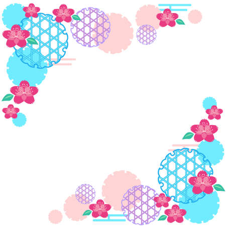 Frame material of cherry blossoms and Japanese style style