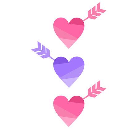 Arrow-stuck icon in heart