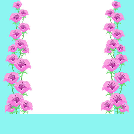 Anemone Flower Decoration Frame Material  イラスト・ベクター素材