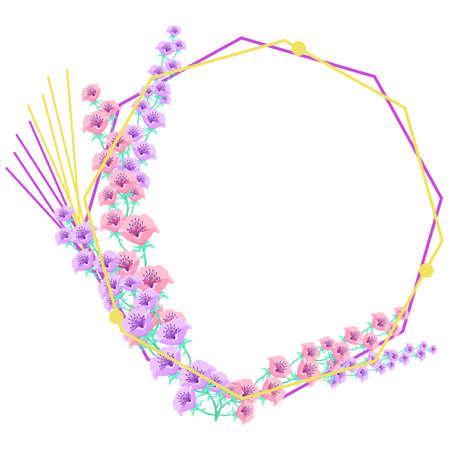 Anemone Flower Decoration Frame Material  イラスト・ベクター素材