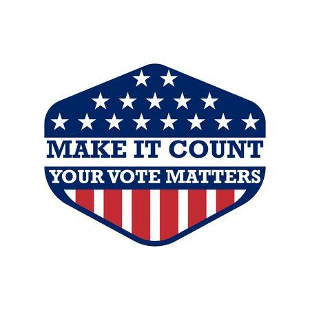 2020 United States of America Presidential Election Button Design, badges and vote labels. Vektorgrafik