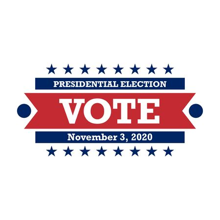 2020 United States of America Presidential Election Button Design, badges and vote labels.