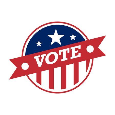 2020 United States of America Presidential Election Button Design, badges and vote labels. Ilustração Vetorial