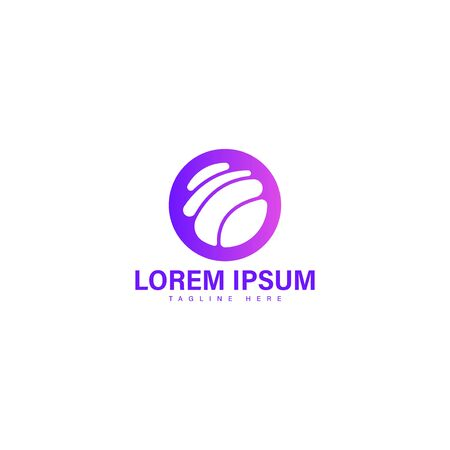 Modern colorful abstract vector logo or element design. Best for identity. Simple shape. Çizim