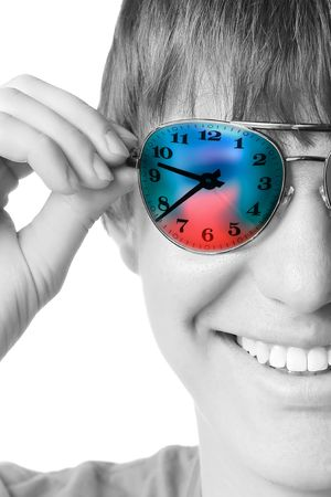 Young smiling guy in glasses Stock Photo - 5573456