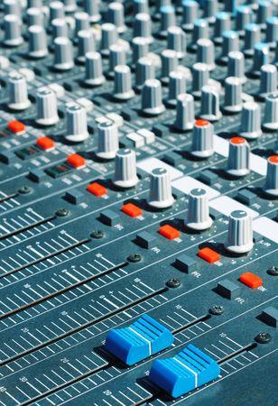 Audio mixer with sliders photo