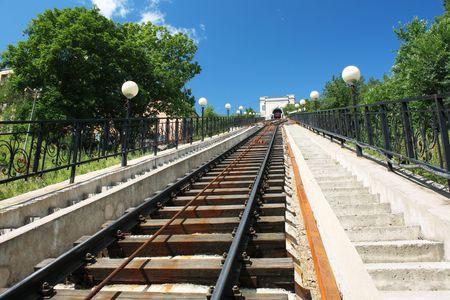 Funicular road photo