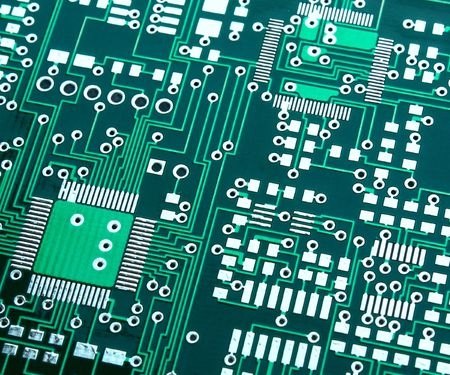 wire pin: Green electronic board without components
