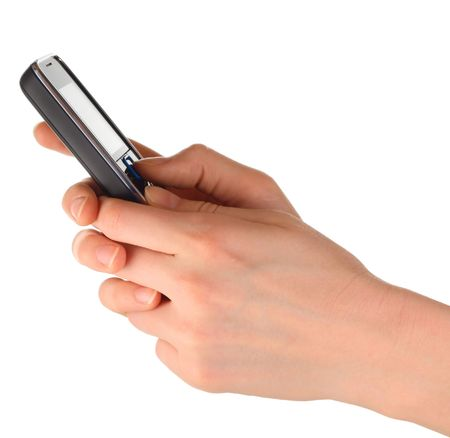 Cell phone in hands Stock Photo - 5776972