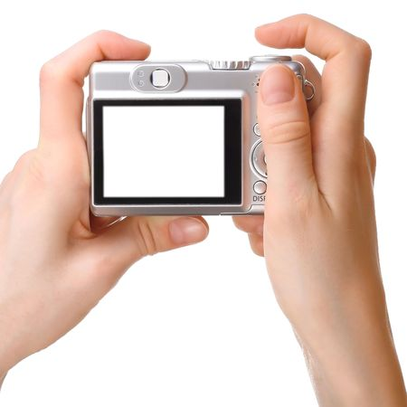 Camera in hands photo
