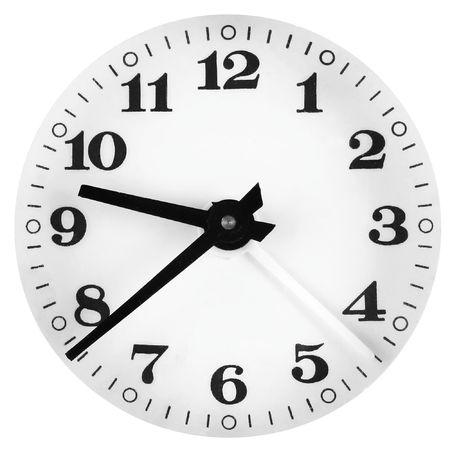 Isolated clock-face photo