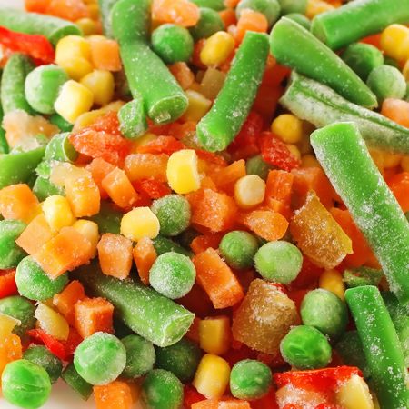 Frozen mixed vegetables photo