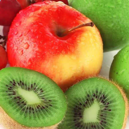 Wet fruits photo
