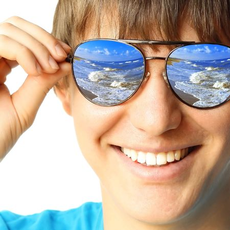 Young guy with glasses Stock Photo - 5783281