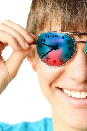 Young smiling guy in glasses Stock Photo - 5782805