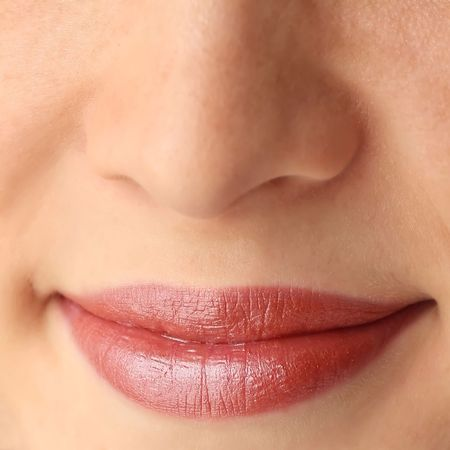 Lips with make up photo