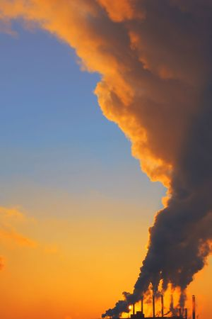 Power plant with smoke Stock Photo - 5783384