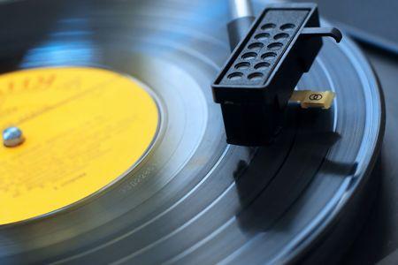 audio player: Retro audio player Stock Photo