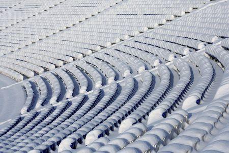 Winter stadiums seats photo