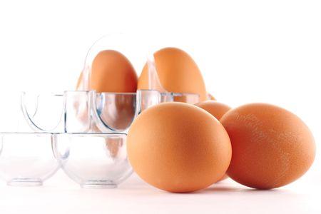 Eggs in case photo