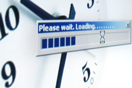 xp: Computer message of loading